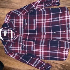 Soft worn flannel